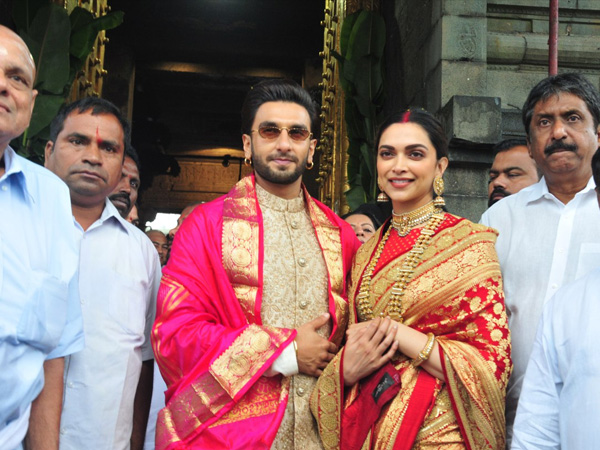 Deepika Padukone un Ranveer Singh pirmajā gadadienā izskatās tradicionāli perfekti