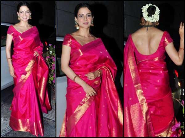 ვინ ატარებდა საუკეთესოდ? Madhuri Dixit & Kangana Ranaut In Silk Sarees
