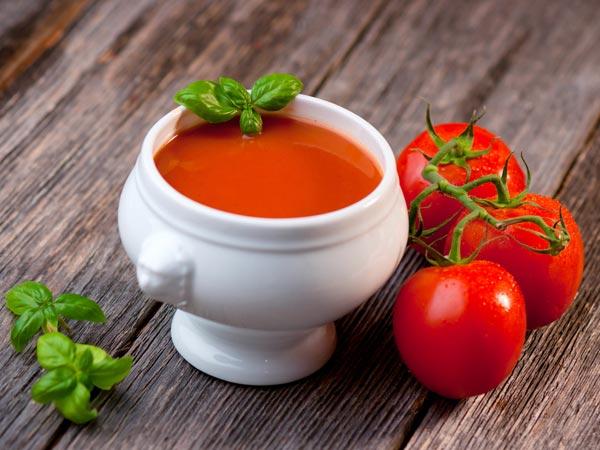 टमाटर के सूप के स्वास्थ्य लाभ