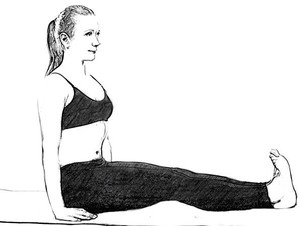 Dandasana (Staff Pose) pour soulager la douleur sciatique