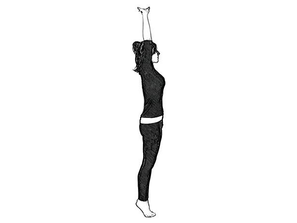 Tadasana (Mountain Pose) for at styrke knæ og ankler
