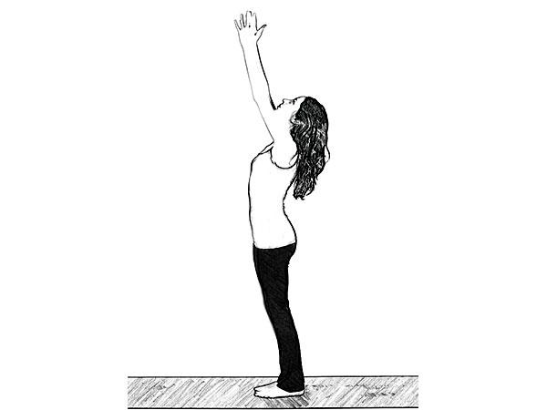 Urdhva Hastasana (تحية تصاعدية) لتخفيف التوتر