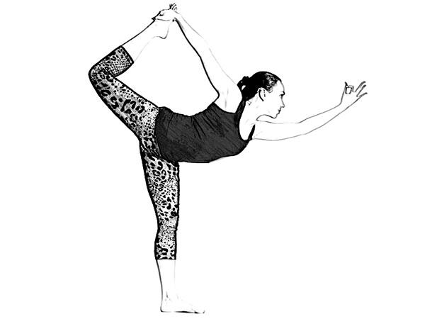 Натараджасана (Lord Of The Dance Pose) для покращення концентрації