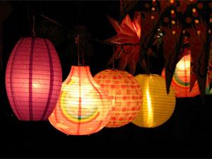 Dekoracija Diwali: okrasitev vrta z lučmi