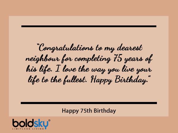 उद्धरण, शुभकामनाएं और संदेश एक दूसरे के 75 वें जन्मदिन पर साझा करें