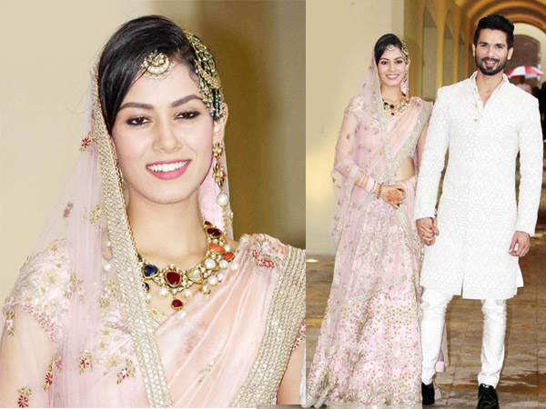 Mira Rajput i Anamika Khanna Lehenga til bryllupsreception