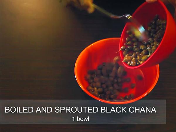 Рэцэпт прарослых кала чана: як зрабіць здаровы салат з прарослых чорных хана дома