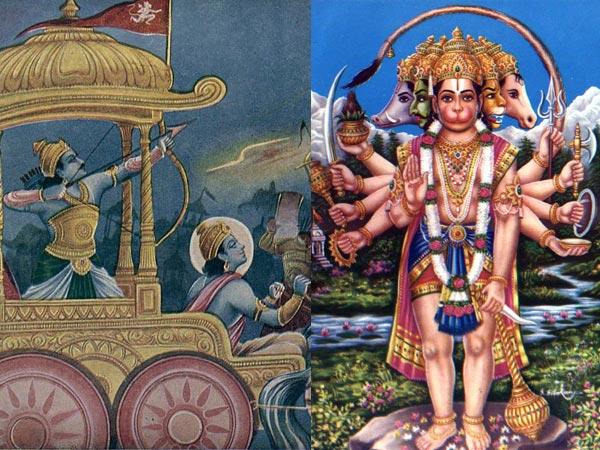 Ο ρόλος του Λόρδου Hanuman στα Μαχαμπαράτα